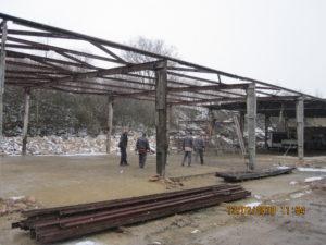 Demolice výrobní haly v Bučovicích